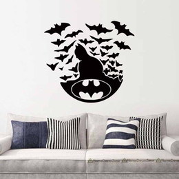 Wholesale Interior Design Kids Bedroom - Batman Dark Knight Dc Comics Superhero Surprise Vinyl Stickers Home Interior Decoration Frescoes DIY