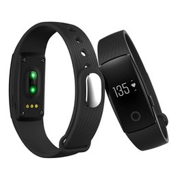Wholesale Green Polish - ID107 Bluetooth 4.0 Smart Band Bracelet with Heart Rate Monitor Wristband Fitness Tracker for Android IOS Smartphone Better Than Fit Bit