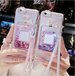 Wholesale Sand Bottles - Shifting Sands Silicone phone case for Apple Iphone7plus Iphone 6 plus perfume bottle phone cases with luxury rhinestones