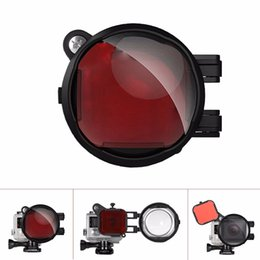 Wholesale Head Correction - Freeshipping 2-in-1 Diving Lens Combo For GoPro Filter, Red Correction Filter + 16X Close Up Macro Lens Filter for Hero 4 3+ 3