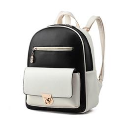 Wholesale Korean White Tote Leather Bag - Fashion Famous Brand Backpacks PU Desinger Leather Women Luxury Handbags Shoulder Bags Totes Messenger Crossbody School Bag Free Ship Z093