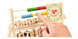 Wholesale Wood Beads For Kids - 2017 High quality Hot New Multifunction Toys Baby Learning Bead Abacus Computing Frame Counting Wooden Math Toys Gifts For Kids