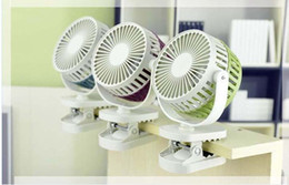 Wholesale Plasma Tables - Mini Protable Fan USB Rechargerable Kids Table Fan Battery Adjustable Three Color,electric fan with a clip,free shipping