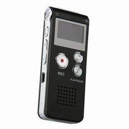 Wholesale Usb Voice Activated Recorders - Wholesale-8GB CL-R30 Mini USB Digital Voice Recorders Activated 650Hr Dictaphone registratore vocale MP3 Player gravador de voz Black