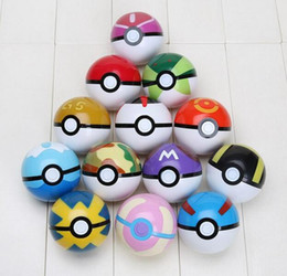 Wholesale Kids Pop Up - 13pcs set 7cm Cosplay New Pokeball Master Great Playset action figures Pop-up Plastic Poke Ball Go Toy for kid toys Free Shipping
