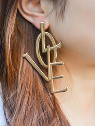 Wholesale Big Hoop Earrings For Women - 2017 fashion Exaggerate individual Lover Hoop earrings for women statement jewelry big circle earrings for girls wholesale Free shipping