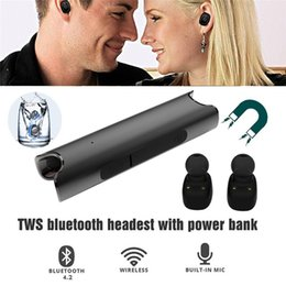 Wholesale Phone Ear Buds - S2 TWS Twins Bluetooth Earphones IPX7 Waterproof Mini Double-Ear Headsets Binaural Ear buds With Charging Dock For Universal Phones