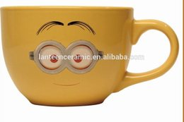 Wholesale Coffee Cup Soup - SZQ08 ceramic soup cup with printing cartoon coffee cup
