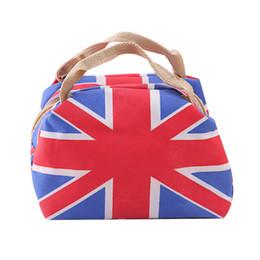 Wholesale England Flag Tote - Wholesale- Women fashion hand bag women 2016 M Word Flag Fashion Personality Bag Lunch Thicker Insulation bolsas bag ladies free shipping