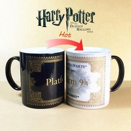 Wholesale Hot Water Tumbler - Discolored Mug Harry Potter Platform Cup London To Hogwarts For One Way Tumbler Hot Water Mugs Wear Resistant Cups CCA6377 48pcs