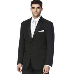Dernier style, le marié convient tuxedos fashion formel pour les hommes noirs convient à la couleur pure deux costumes de mariage pour hommes (veste + pantalon) ? partir de fabricateur