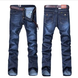 Wholesale Cowboy Trousers - Wholesale-autumn wear jeans men new youth straight cultivate one morality leisure trousers thin men trousers Business cowboy pants straight
