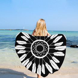 Wholesale Patterned Bikinis - Round Beach Towel Mandala Tapestries Cotton Various Patterns Bikini Cover up Beachwear Bath Throw Shawl Rugs Beach Towel with Tassels MT06