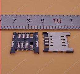 Wholesale Optimus 3d - 50PCS SIM card holder module, slot tray, reader rack, socket connector for LG Optimus L7 P700 p705 3D MAX p720 L9 P765 P760