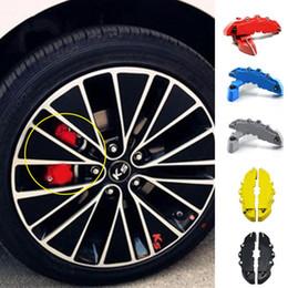 Wholesale Brake Caliper Covers Front - EU Stock 2pcs Set ABS Car Brake Caliper Front Rear Brake Caliper Cover Case Wheel Hub Decoration Accessories 5 Colors