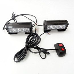 Wholesale Emergency Red Strobe Light - 2*4 LED Strobe Lights for Trucks Jeep SUV Cars 12V Universal Amber Waterproof Emergency Car Light