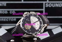 Hombres de lujo mecánicos mecánicos Tourbillon relojes Stainelss día fecha negro correa de cuero Buceo diseñador hombres de moda relojes de pulsera Dropship desde fabricantes