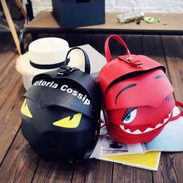 Wholesale Backpack Shell - 2017 NEW small bag Fashion women messenger bag PU Leather Women Monster eye shoulder Bags Girls' cartoon bags Beetle backpack B7030503