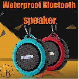 Wholesale Boxes For Ipad - C6 Outdoor Sports Shower Portable Waterproof Wireless Bluetooth Speaker Suction Cup Handsfree MIC Voice Box For iphone 6 iPad PC Phone