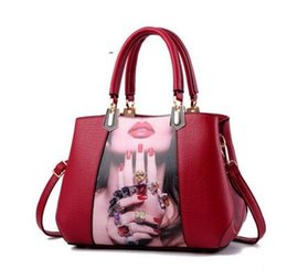 Wholesale Trend Shell Bag - Europe America fashion new Women's shoulder bag Big bag printing print trend Shell package Women's worn shoulder bag