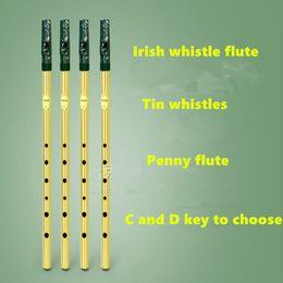 Ирландский свисток Флейта Feadog C D Key Tist Whistle Ирландский свистулька с 6 отверстиями Флейта с кларнетом с никелевым покрытием Flauta Musical от