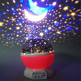 Wholesale Led Starry Sky Projection Lamp - Rotatable LED Christmas Projector Night Light Romantic Starry Sky Stars Moon Projection Lamp Party Christmas Decorations Ornaments