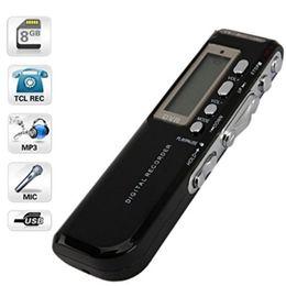 Wholesale Vor Recording - Wholesale-USB Digital Voice Recorder 8G Audio Dictaphone Gravador Support MP3 WAV VOR Mini Espiao Privat Records Mp3 Player Pen Recorder