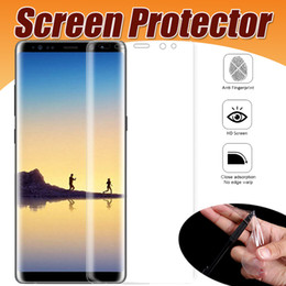 Wholesale note screen parts - 3D Full Coverage Screen Protector Soft TPU Clear Slim Full Cover Curved Part Film Guard For Samsung Galaxy S9 Plus S8 S7 S6 edge Note 8 5