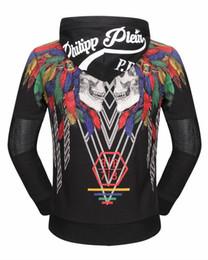 Wholesale Turtleneck Hoodies Men - 2017 Autumn Winter Men's Jacket Length Sleeve Hoodies Sweatshirts Print Hoody Hooded Zipper Diamond Outwear 18603