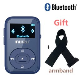 Wholesale free card readings - Wholesale- Free Arm band+RUIZU X26 Clip Bluetooth mp3 player 8GB Sport Bluetooth music player with Screen Voice Recorder FM Support SD Card
