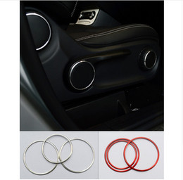 Wholesale Aluminium Alloy Rings - Aluminium alloy Car styling Seat adjustment knob decorative ring auto interior accessories 3D sticker for Mercedes Benz CLA GLA