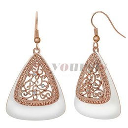 Wholesale Big Vine - Yoursfs Vintage Earrings for Women Gold Plating Hollow Out Flower Vine Retro Dangle Earring Bohemian Jewelry Big