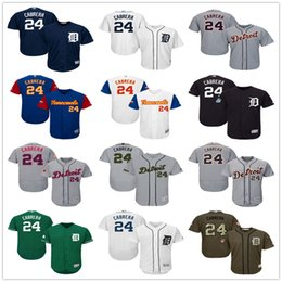 Wholesale Day Mother - Mens #24 Miguel Cabrera Green Celtic Gray Fashion Stars Navy Blue White with Pink for Mothers day Detroit Tigers Baseball Jerseys Sale