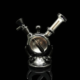 """Wholesale Female Hands - 6.5"""" Tall mini bong High Quality bubblers hand make with black glass 14mm female joint glass pipes"""