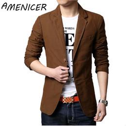 Wholesale Urban Brand Clothing - Wholesale- New suit men brand casual jacket terno masculino latest coat designs blazers men urban clothing pea coats