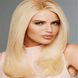 Wholesale Xbl Hair - xbl human hair wigs Full Lace Human Hair Wig Senior silk Long Wavy Full Lace Wigs Brazilian Virgin Hair 100% With Bangs For women Color 22#