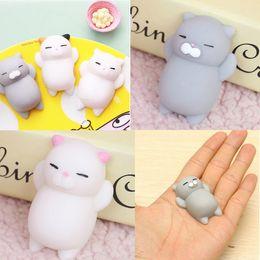 Wholesale Wholesaler Japan - New 1 pcs Free Shipping Hasbro Toy Kawaii Original Japan Lazy Cat Mochi Decompress Squishy Squeeze Cat Healing Toy Mini Gifts for Kids