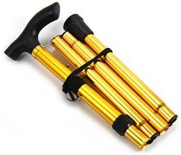 Wholesale Wholesale Walking Sticks - Wholesale- Outdoor Adjustable Aluminum Alloy Metal Folding Cane Walking Sticks Adjustable Height and Non Slip Rubber Base Walking Stick