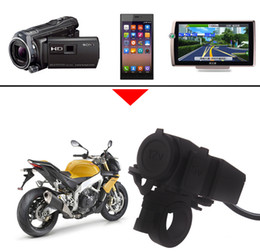Wholesale micro usb dust - Waterproof Motorcycle USB Charger Power Supply Socket Universal Waterproof and Dust-proof Rubber Cap with Fuse WUPP-01 12V - 24V