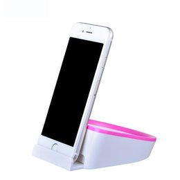 Wholesale Smallest Mini Mobile Phone - JOYROOM Mini Storage Phone Holder 2in1 Non-slip Phone Stand With Small Storage Box Fashion Dual-use Mobile Phone Bracket for iphone8 samsung