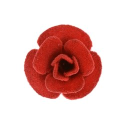 Wholesale Vintage Indian Clothing - 5 Colors Fabric Rose Flower Brooch Pin Women's Clothe Brooches Antique Silver Vintage Lapel Pin Corsage Boutonniere