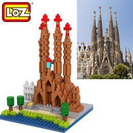 Wholesale Sagrada Familia - Loz Diamond Blocks World Famous Architecture Basilica i Temple Expiatori de la Sagrada Familia church Mini 3D Model Building Blocks