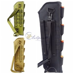 Wholesale Tactical Molle Sling - Survival Gear Tactical Pouches Molle Pouches Short Barrel Shotgun Scabbard Bag ,Outdoor Camping Portable Shoulder Sling Holster Bag