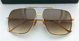Wholesale Flight Metal - Fashion men brand sunglasses Flight 005 gold plated men's metal frame steampunk style top quality UV400 lens with original box