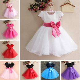 2019 grandes vestidos de color rosa caliente Girls New Dresses Pink Dress Ropa para niños Ropa de fiesta para niños Lentejuelas Big Girls 7Y Lace Tutu 2017 Hot Sale Flower Girls Wear