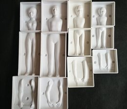 Wholesale Body Cake Mold - Cake Mold 4 set Fondant 3D People Shaped Cake Figure Mold Family Set Human Body Decorating Mould for Men Women Children