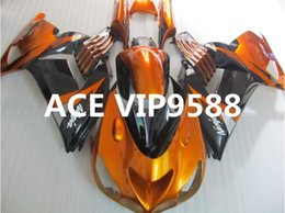 Wholesale Zx14 Black - 3 gifts Motorcycle Fairing kit for KAWASAKI Ninja ZX14R 06 07 08 09 ZX14R 06-09 Motorcycle Fairings set Black Gold Yellow A24