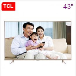 Wholesale Led Panel 64 - TCL 43-inch ultra-high-definition 64-bit 4K HDR Andrews intelligent voice control LED LCD flat-panel TV Free Shipping