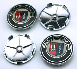 Wholesale Bmw Wheel E39 - ALPINA 68mm Car Emblem Badge Sticker Wheel Hub Caps Centre Cover X1 X3 X5 X6 M3 M5 M6 E46 E39 E36 E60 E90