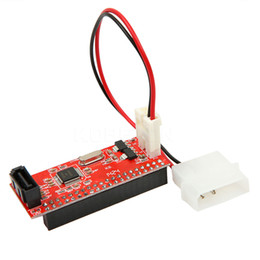 Wholesale Ide Internal - PCI 2.5'' inch IDE to DATA 7 pin card Adapter Computer Converter Express Card IDE to SATA 100   133 with Cable